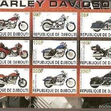 Sellos: DJIBUTI ** & CLÁSSICOS HARLEY DAVINSON 2011 (2). Lote 133893729