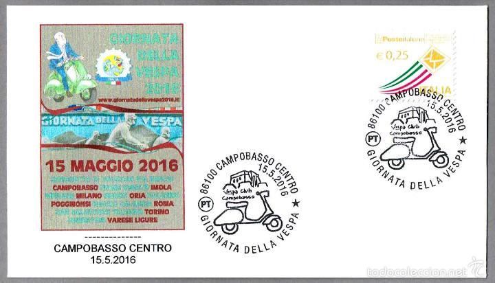 MATASELLOS DIA DE LA VESPA - MOTOS. CAMPOBASSO, ITALIA, 2016 (Sellos - Temáticas - Otros Transportes)