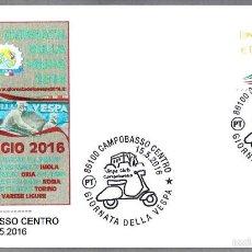 Sellos: MATASELLOS DIA DE LA VESPA - MOTOS. CAMPOBASSO, ITALIA, 2016. Lote 57874012