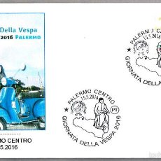 Sellos: MATASELLOS DIA DE LA VESPA - MOTOS. PALERMO, ITALIA, 2016. Lote 57874049