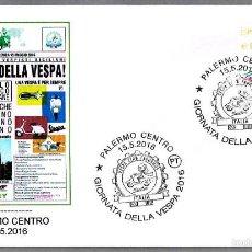 Sellos: MATASELLOS DIA DE LA VESPA - MOTOS. PALERMO, ITALIA, 2016. Lote 57874054