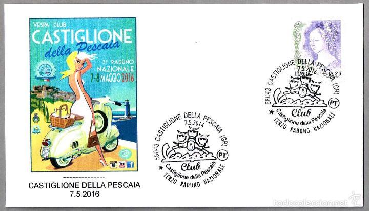 ENCUENTRO NACIONAL VESPA - MOTO. CASTIGLIONE DELLA PESCAIA, ITALIA, 2016 (Sellos - Temáticas - Otros Transportes)