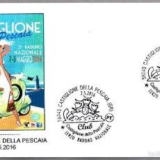 Sellos: ENCUENTRO NACIONAL VESPA - MOTO. CASTIGLIONE DELLA PESCAIA, ITALIA, 2016. Lote 57995168