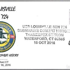 Sellos: MATASELLOS SUBMARINO NUCLEAR USS LOUISVILLE (SSN-724). WATERFORD CT, ESTADOS UNIDOS, 2016. Lote 66855142
