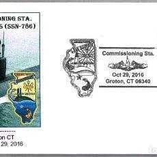 Sellos: PUESTA EN SERVICIO SUBMARINO NUCLEAR USS ILLINOIS (SSN-786). GROTON CT 2016. Lote 69510881