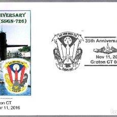 Sellos: 35 AÑOS SUBMARINO NUCLEAR USS OHIO (SSGN-726). GROTON CT 2016. Lote 69511105
