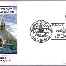 Sellos: 30 AÑOS SUBMARINO NUCLEAR USS LOUISVILLE (SSN-724). GROTON CT 2016. Lote 69511225