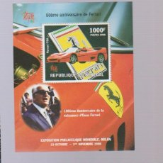 Sellos: HOJA BLOQUE COCHES 7. Lote 198487276