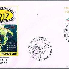 Sellos: MATASELLOS 13 GIRO DEI TRE MARI - MOTOCICLISMO. CEFALU, ITALIA, 2017. Lote 93930735