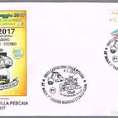 Sellos: MATASELLOS 30 AÑOS PRIMER ENCUENTRO HISTORICO MOTO VESPA. CASTIGLIONE DELLA PESCAIA, ITALIA, 2017. Lote 93931040