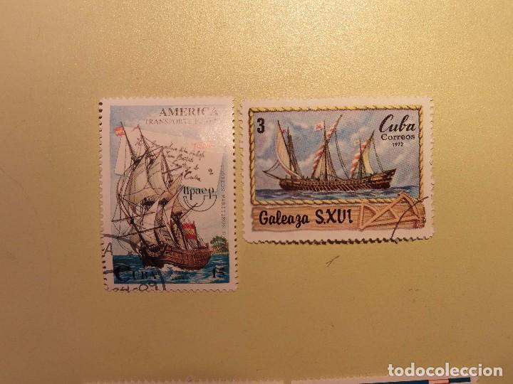 CUBA - BARCOS - GALEONES - VELERO. (Sellos - Temáticas - Otros Transportes)