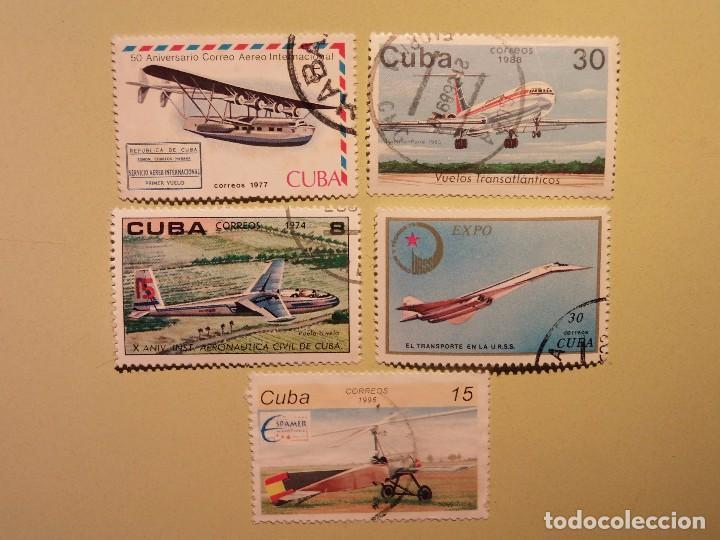 CUBA - AVIONES - CONCORDE, VUELO A VELA, HIDROAVIÓN, ETC (Sellos - Temáticas - Otros Transportes)