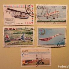 Sellos: CUBA - AVIONES - CONCORDE, VUELO A VELA, HIDROAVIÓN, ETC. Lote 94746987