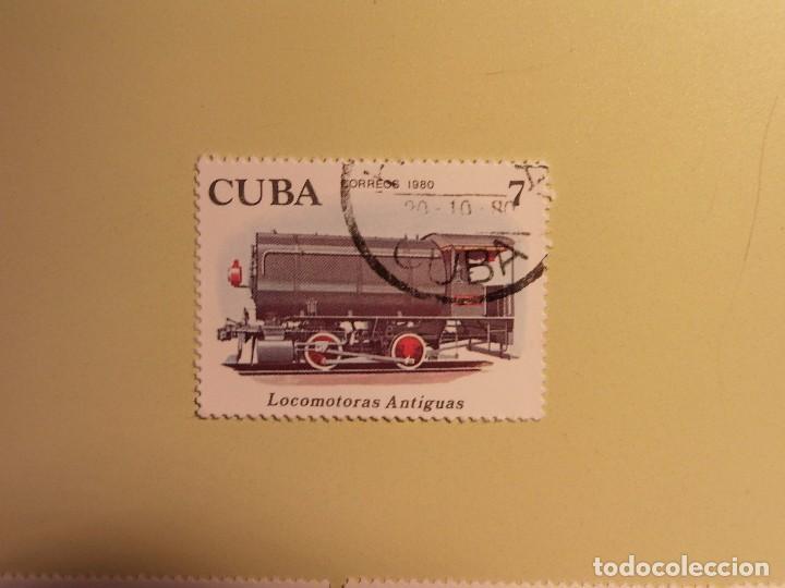 CUBA 1980 - TERNES - LOCOMOTORA ANTIGUA (Sellos - Temáticas - Otros Transportes)