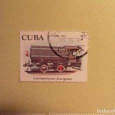 Sellos: CUBA 1980 - TERNES - LOCOMOTORA ANTIGUA. Lote 94747419