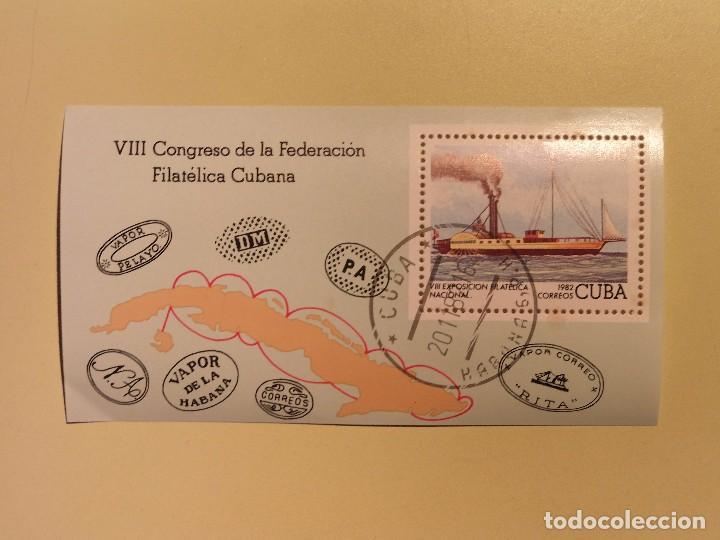 CUBA 1982 - H.B. BARCO DE VAPOR (Sellos - Temáticas - Otros Transportes)