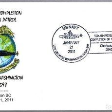 Sellos: MATASELLOS 50 AÑOS PATRULLA SUBMARINO NUCLEAR USS GEORGE WASHINGTON (SSBN-598). CHARLESTON SC 2011. Lote 97939271