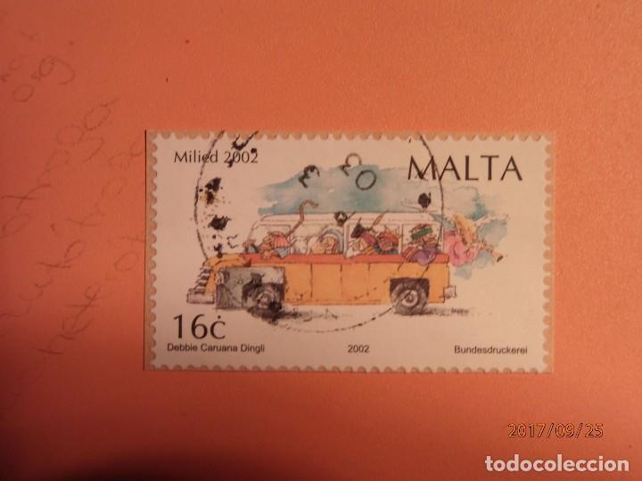 2002 - MALTA - AUTOBÚS ESCOLAR (Sellos - Temáticas - Otros Transportes)