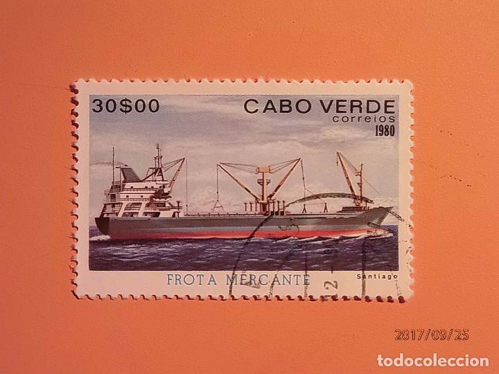 CABO VERDE - FLOTA MERCANTE - BARCOS DE ÉPOCA. (Sellos - Temáticas - Otros Transportes)