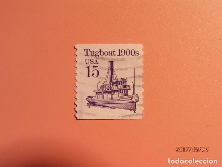 USA - BARCOS - REMOLCADOR - TUGBOAT 1900 (Sellos - Temáticas - Otros Transportes)