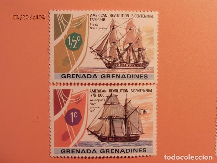 GRENADA GRENADINES - BARCOS - VELEROS - FRAGATA SOUTH CAROLINA - SCHOONER LEE (Sellos - Temáticas - Otros Transportes)