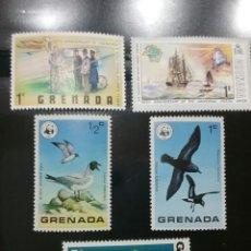 Sellos: SELLOS DE GRANADA (GRENADA) NUEVOS. SIN CLASIFICAR. AVES. ARMAS. CARRUAJE.BARCOS.VELEROS.HELICOPTERO. Lote 103079955
