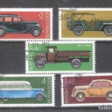 Timbres: RUSIA (URSS) YVERT Nº 4145/4149º VEHÍCULOS DE ÉPOCA SERIE III.SERIE COMPLETA. Lote 107396779