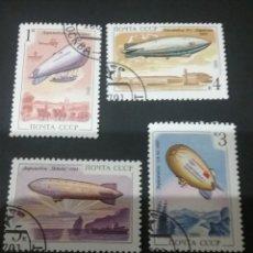 Sellos: SELLOS DE RUSIA (UNION SOVIÉTICA.URSS) MTDOS. 1991. DIRIGIBLES. VUELOS. ALBATROS. POBEDA. GLOBOS.. Lote 110060632