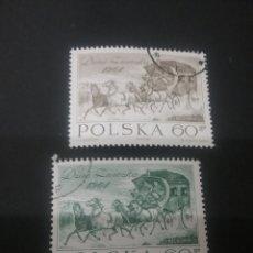 Sellos: SELLOS DE POLONIA (POLSKA) MATASELLADOS. 1964. CABALLO. CARRUAJE. CARRETA. CARRO. JINETE. MAMIFEROS.. Lote 114403095