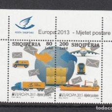 Sellos: ALBANIA 2013 - EUROPA - TRANSPORTES POSTALES - 2 SELLOS. Lote 114437955