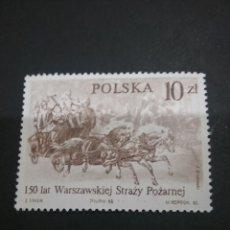 Sellos: SELLOS DE POLONIA (POLSKA) MATASELLADOS. 1986. CABALLO. CARRUAJE. BOMBEROS. CARRO.. Lote 114931011