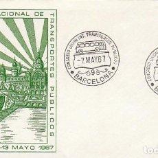 Sellos: AÑO 1967, AUTOBUS, CONGRESO DE LA UNION INTERNACIONAL DE TRANSPORTES PUBLICOS, SOBRE DE ALFIL. Lote 115122239