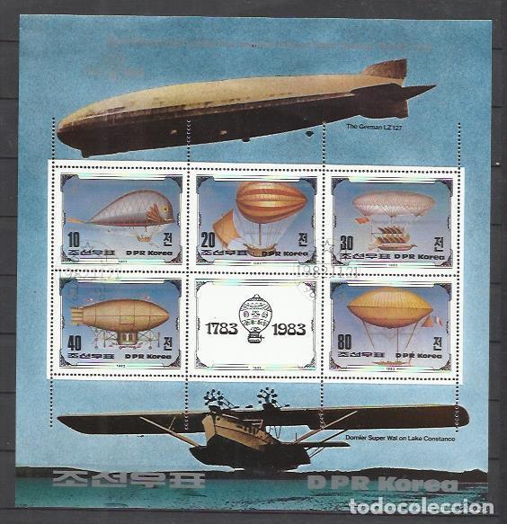 Q5032-HOJA BLOQUE COREA KOREA ZEPPELIN 1982 (Sellos - Temáticas - Otros Transportes)