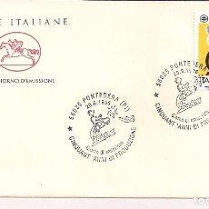 Sellos: SOBRE PRIMER DIA ITALIA. 50 ANIVERARIO DE LA VESPA 1996. Lote 120126963