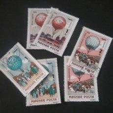 Sellos: SELLOS DE HUNGRÍA (MAGYAR POSTA)MTDOS .1983. GLOBOS. TRANSPORTES. DIRIGIBLES. AVION. COCHE. BARCOS. Lote 121523056