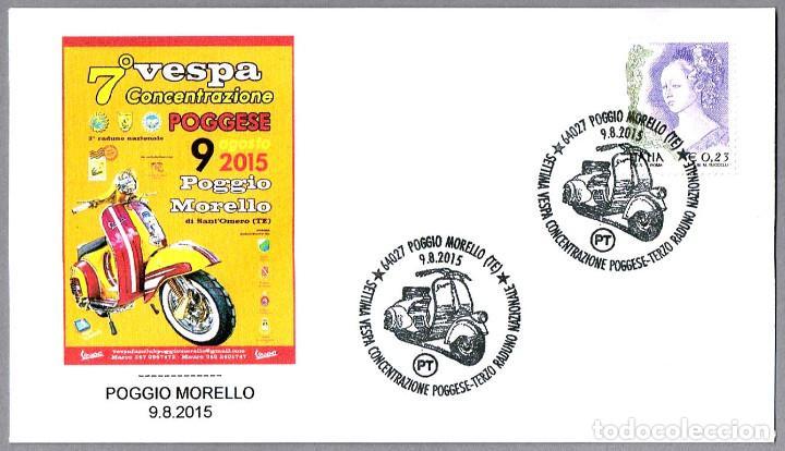 MATASELLOS 7º CONCENTRACION MOTO VESPA. POGGIO MORELLO, ITALIA, 2015 (Sellos - Temáticas - Otros Transportes)