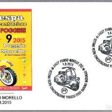 Sellos: MATASELLOS 7º CONCENTRACION MOTO VESPA. POGGIO MORELLO, ITALIA, 2015. Lote 124212815