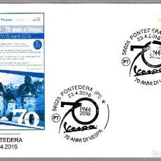 Sellos: MATASELLOS 70 AÑOS DE MOTO VESPA. PONTEDERA, ITALIA, 2016. Lote 124212943