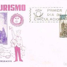 Sellos: EDIFIL 1542, CATEDRAL DE LEON, PRIMER DIA DE 26-10-1964 EN SOBRE DE SISO. Lote 124641639