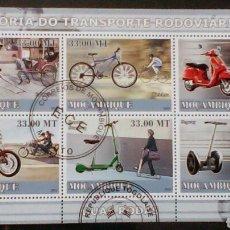Sellos: MOTOCICLETAS HOJA BLOQUE DE SELLOS USADOS DE MOZAMBIQUE. Lote 126744323