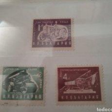 Sellos: SELLOS DE BULGARIA MATASELLADOS. 1951. INDUSTRIA. TRACTOR. APISONADORA. CAMION. MAQUINAS.. Lote 127839083