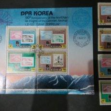 Sellos: HB+SELLOS COREA DEL NORTE MTDOS (DPRK). 1980/EXPOSICION/FILATELICA/ESSEN/ZEPPELIN/NIÑOS/BARCO/SELL/S. Lote 132029202