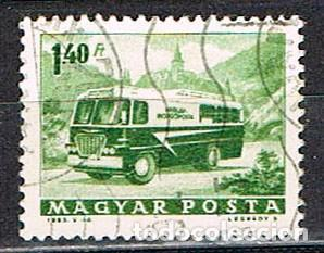 HUNGRIA Nº 1956, AUTOBUS POSTAL, USADO (Sellos - Temáticas - Otros Transportes)