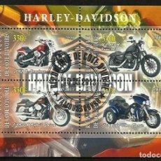 Briefmarken - COSTA DE MARFIL 2013 HOJA BLOQUE SELLOS HARLEY DAVIDSON - MOTOS - 135802406