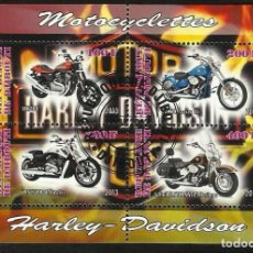 Briefmarken - REPUBLICA DE DJIBOUTI 2013 HOJA BLOQUE SELLOS HARLEY DAVIDSON - MOTOS - 135803590