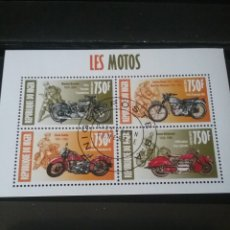 Sellos: HB R.NIGER MTDA/2013/TRANSPORTES, MOTOCICLETA/MOTO CLASICAS/INDIAN FOUR/TRIUMP/HARLEY/. Lote 139070749
