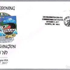 Sellos: MATASELLOS PUESTA EN SERVICIO SUBMARINO NUCLEAR USS WASHINGTON (SSN-787). OLYMPIA WA 2017. Lote 140883454