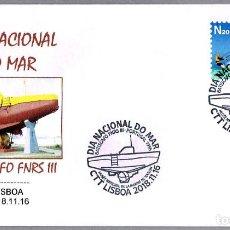 Sellos: MATASELLOS DIA NACIONAL DE MAR - BATISCAFO FNRS III. LISBOA, PORTUGAL, 2018. Lote 142076498
