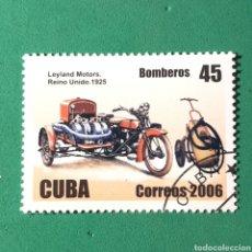 Timbres: (C-11) SELLO NUEVO CON MATASELLO - CUBA 2006. BOMBEROS. LEYLAND MOTORS. REINO UNIDO 1925. Lote 142603740