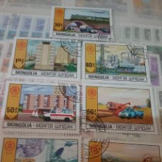 Sellos: SELLOS R. MONGOLIA MTDOS/1981/60 ANIV. INDEPENDENCIA/ECONOMIA DEL PUEBLO/INDUSTRIA/ARQUITECTURA/ANBU. Lote 145452298